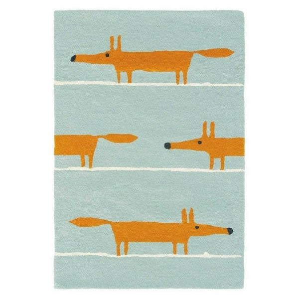 Scion Mr. Fox Rug, aqua