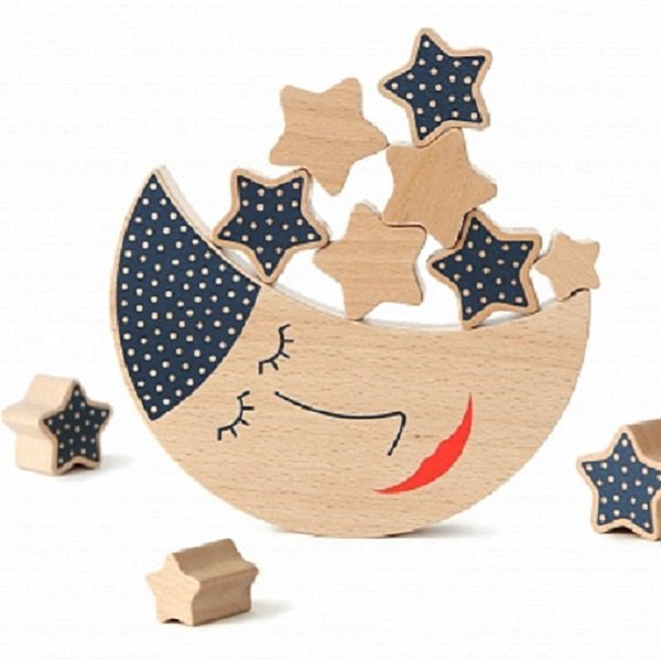 Shusha Wooden Toys Moon and Stars