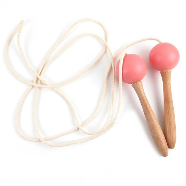 Nobodinoz Wooden Skipping Rope  Pink