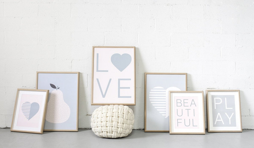 Sprout and Sparrow Kids Wall Art   Love