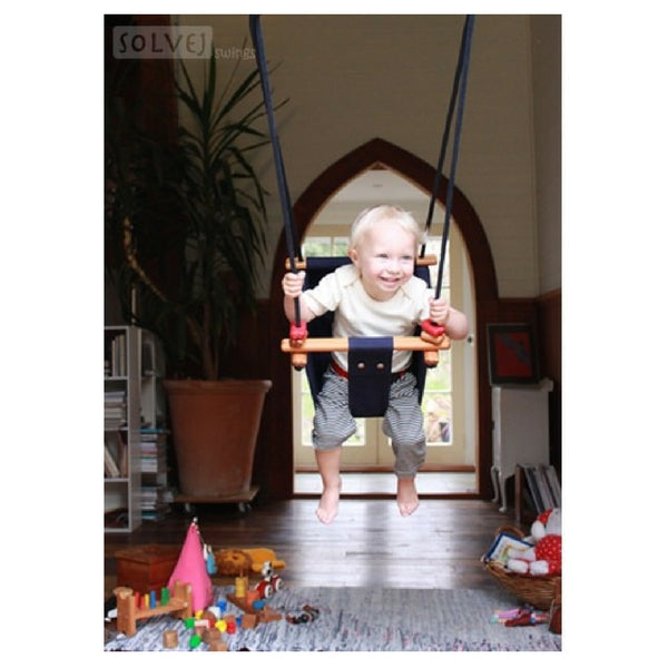 Solvej Baby And Toddler Swing Slate Grey