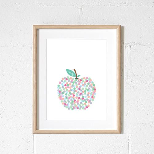 Sprout and Sparrow Kids Wall Art -  Crunchy Apple