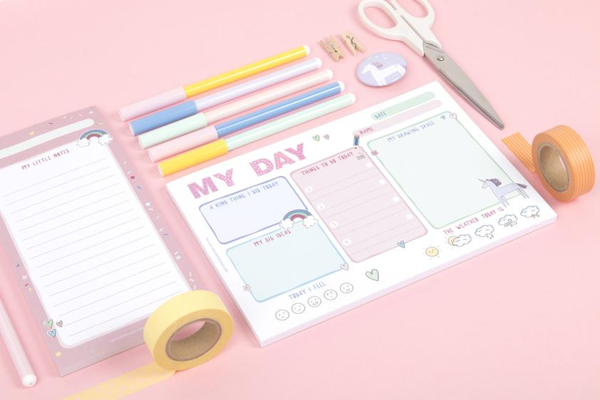 Sprout and Sparrow My Day Kids Planner Notepad - Pink