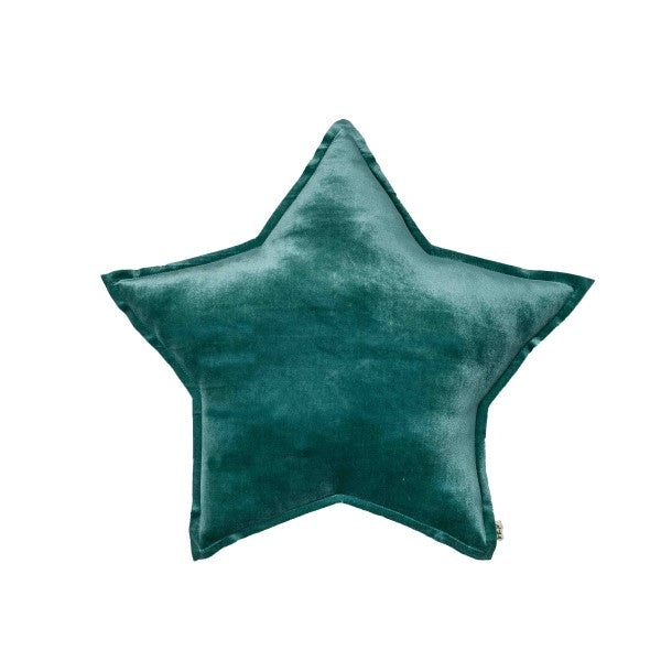 Numero 74 Velvet Star Cushion Teal