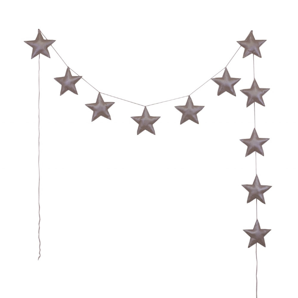 Numero 74 Iridescent Vinyl Dusty Pink Star Garland