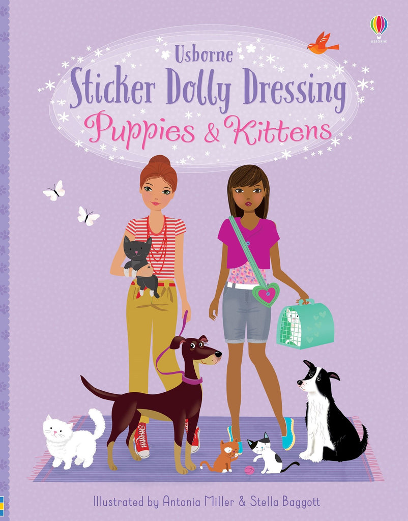 Sticker Dolly Dressing - Puppies and Kittens