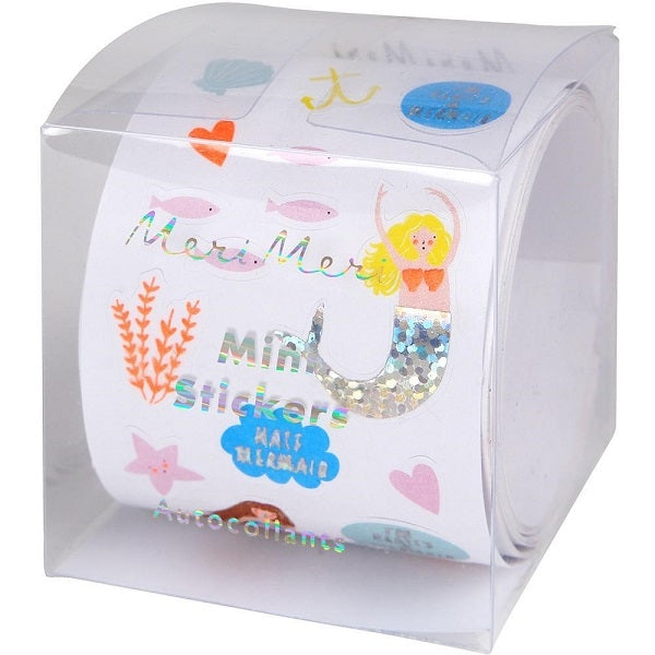 Roll of Mini Stickers Mermaid