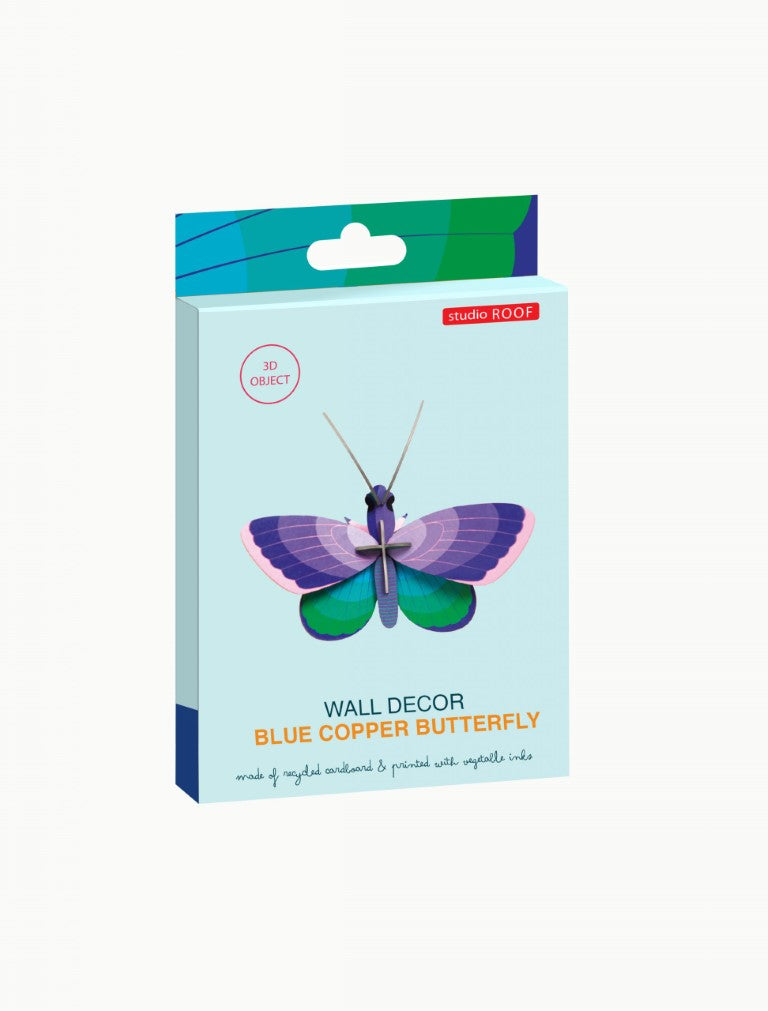 Studio Roof Wall Art Puzzle - Blue Copper Butterfly