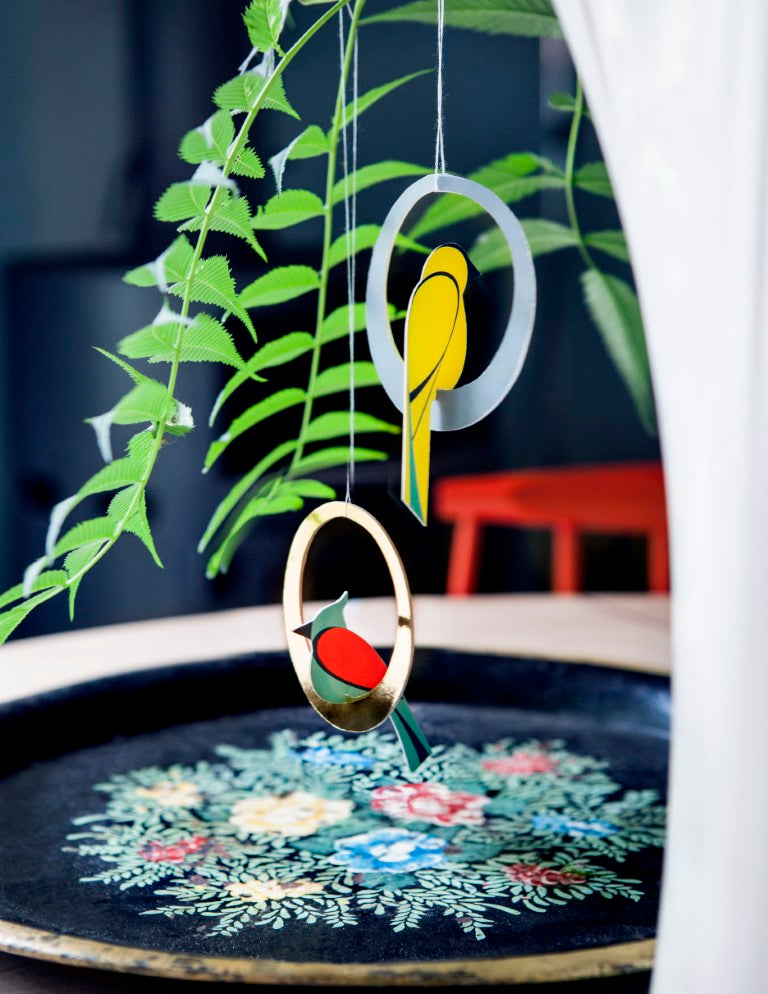 Studio Roof 3D Pop Out Cards - Swinging Birds
