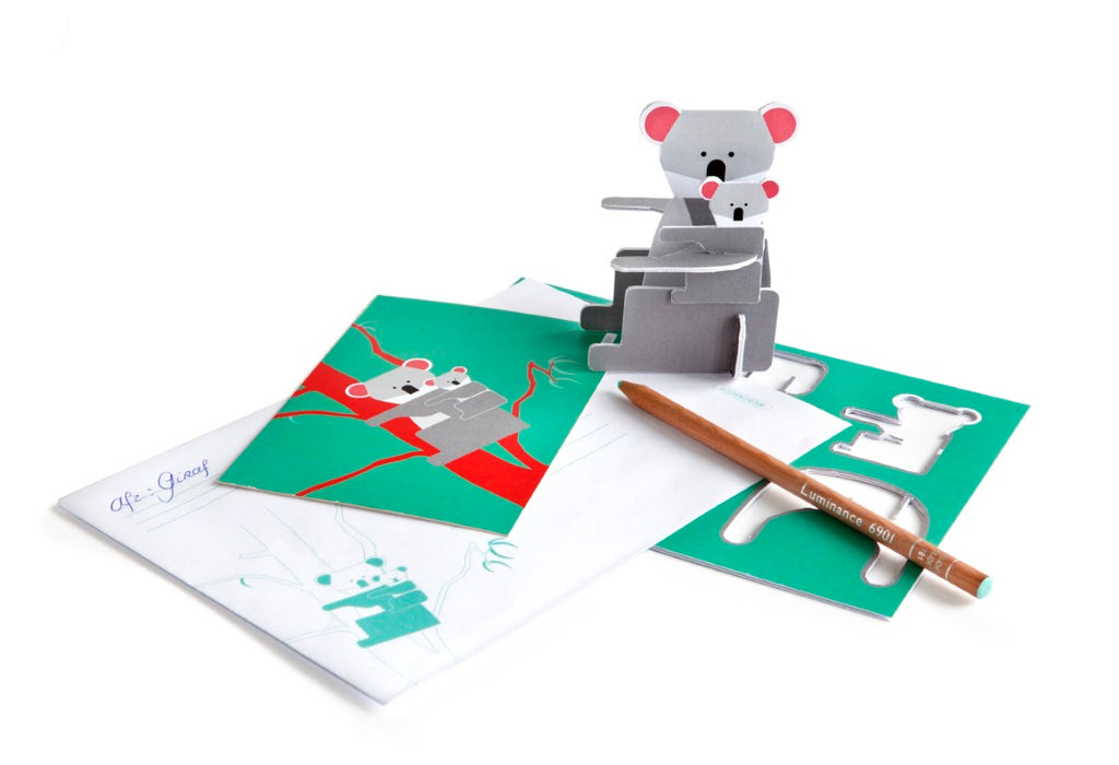 Studio Roof 3D Pop Out Cards - Kangaroo