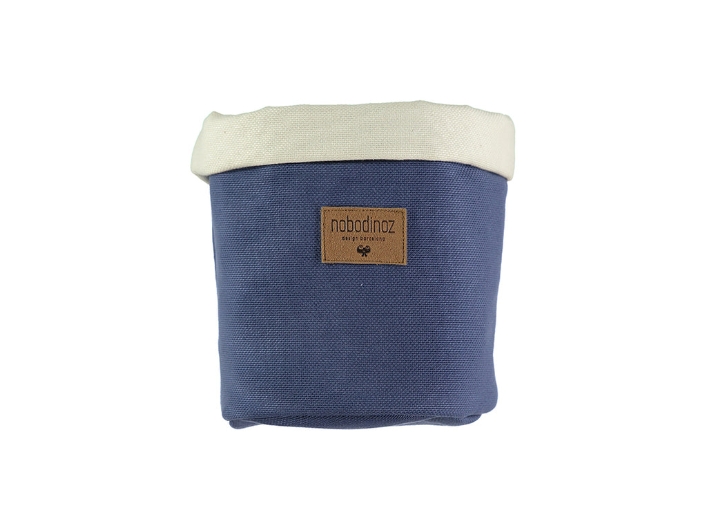 Nobodinoz - Tango Small Storage Basket - Aegean Blue