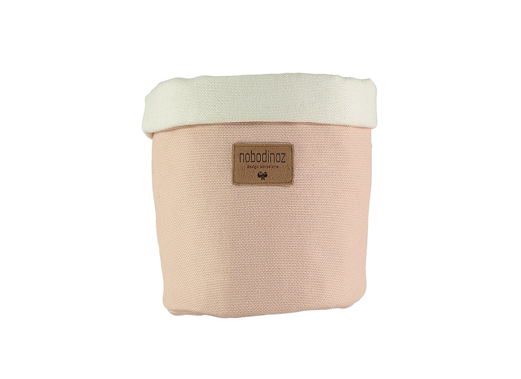 Nobodinoz - Tango Small Storage Basket - Bloom Pink