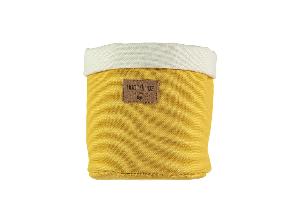 Nobodinoz - Tango Small Storage Basket - Farniente Yellow