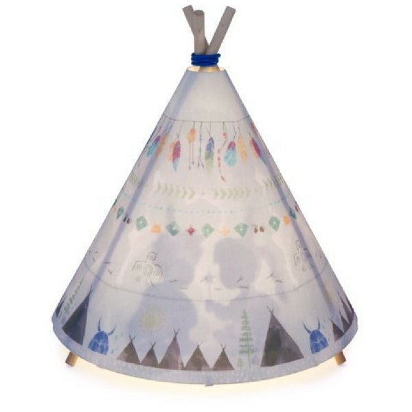 Micky & Stevie Teepee Lamp Blue Grey