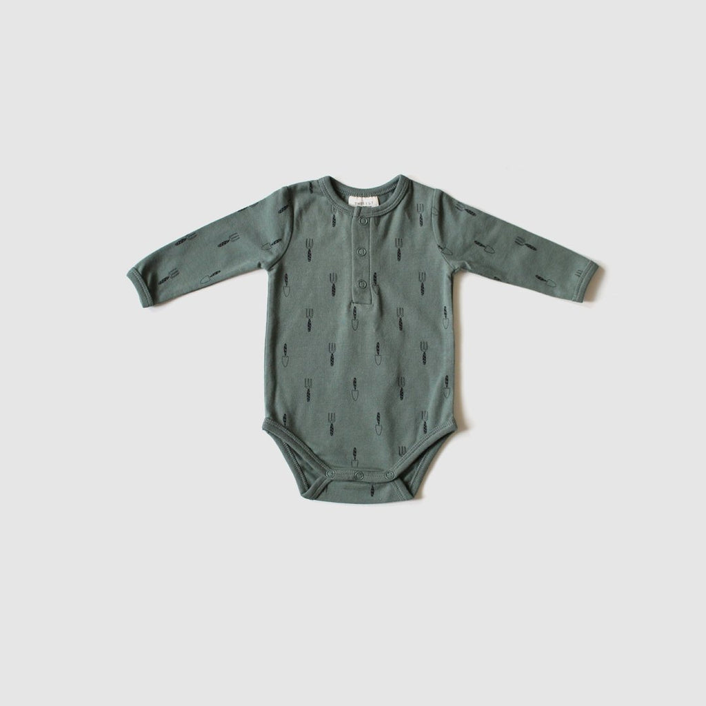 The Rest Organic Cotton Long Sleeve Bodysuit - Gardner