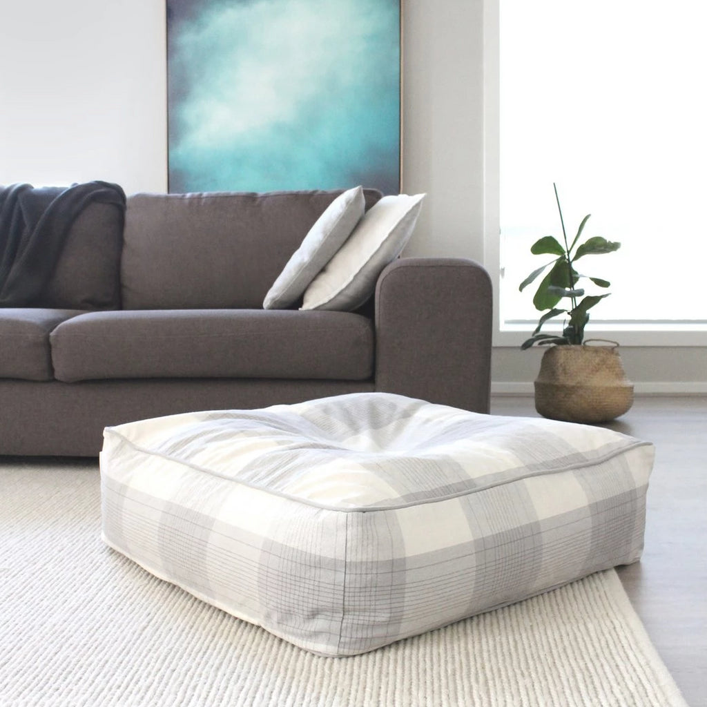 The Rest Organic Cotton Bean Bag - Grey and White