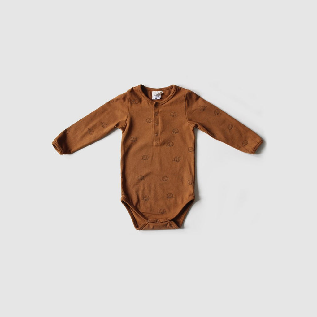 The Rest Organic Cotton Long Sleeve Bodysuit - Happy Camper