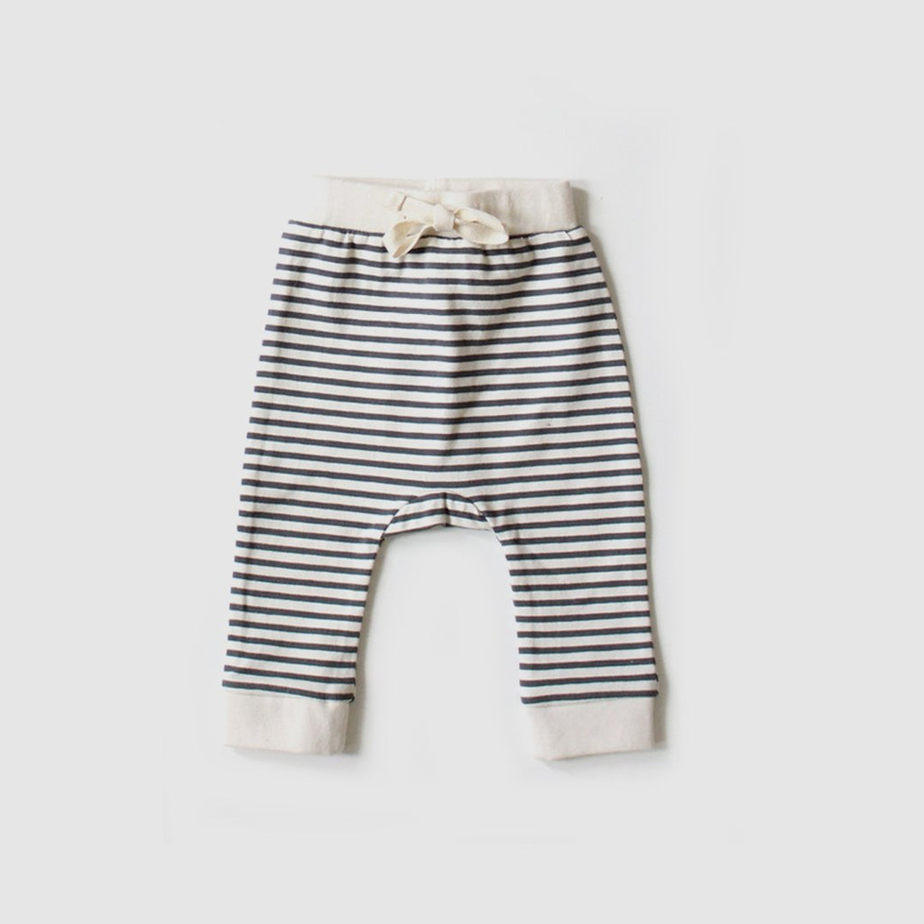 The Rest Organic Cotton Baby Drawstring Pants - Stripe