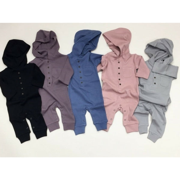 Loved Baby Organic Thermal Romper Light Grey