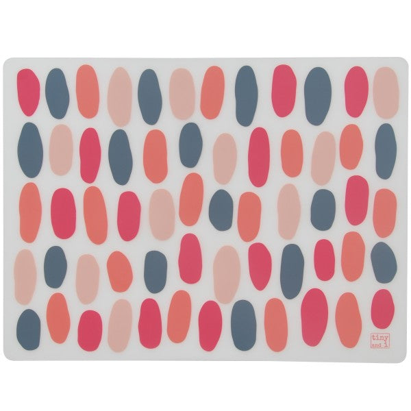 Tiny and I Silicone Placemats - Pink Pebble