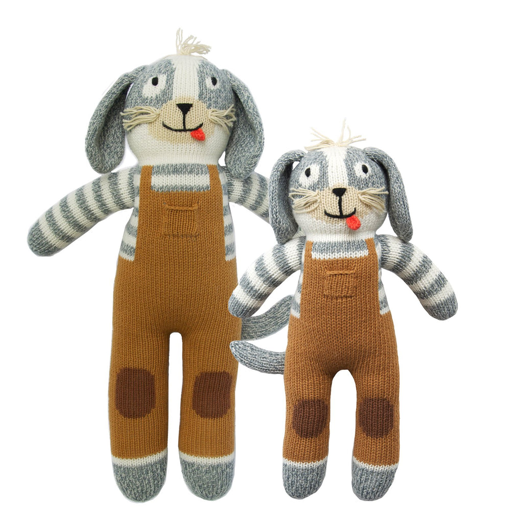 blabla Knitted Cotton Doll - Toutou the Dog