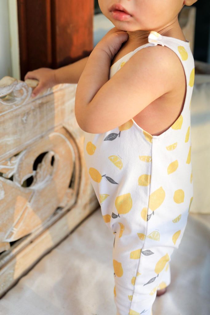 Ponchik Short Sleeve Overalls - Ripe Lemon