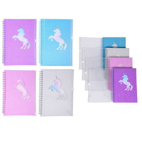 Notepad or Journal - Unicorn Glitter