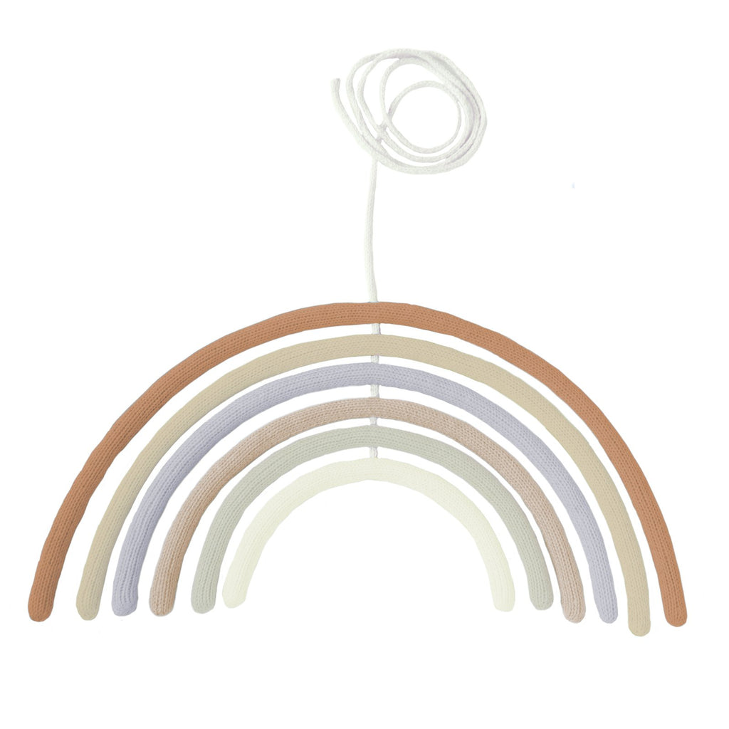 blabla Knitted Cotton Rainbow Mobile or Wall Hanging - Tumbleweed