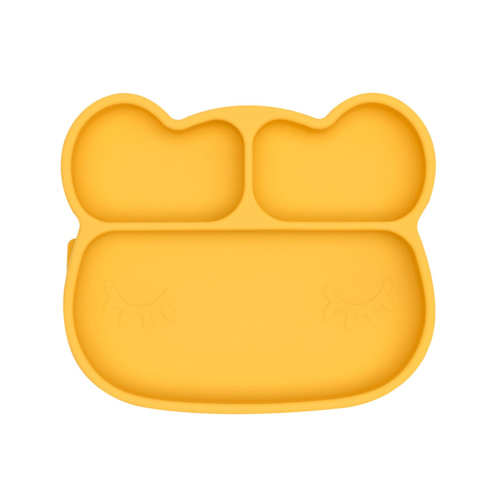We Might Be Tiny - Bear Stickie Plate Yellow