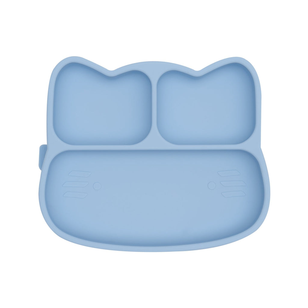 We Might Be Tiny - Cat Stickie Plate Powder Blue