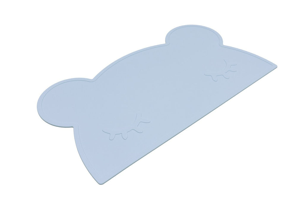 We Might Be Tiny Silicone Placemat - Bear Placie Blue