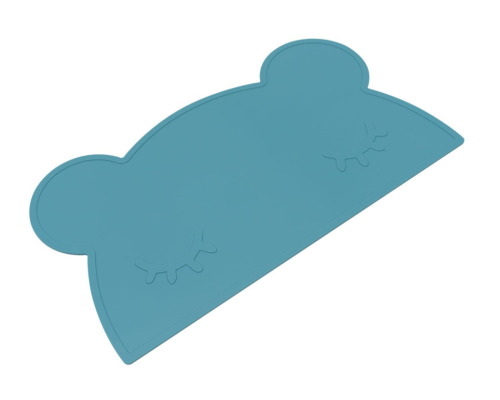 We Might Be Tiny Silicone Placemat - Bear Placie Dusk Blue