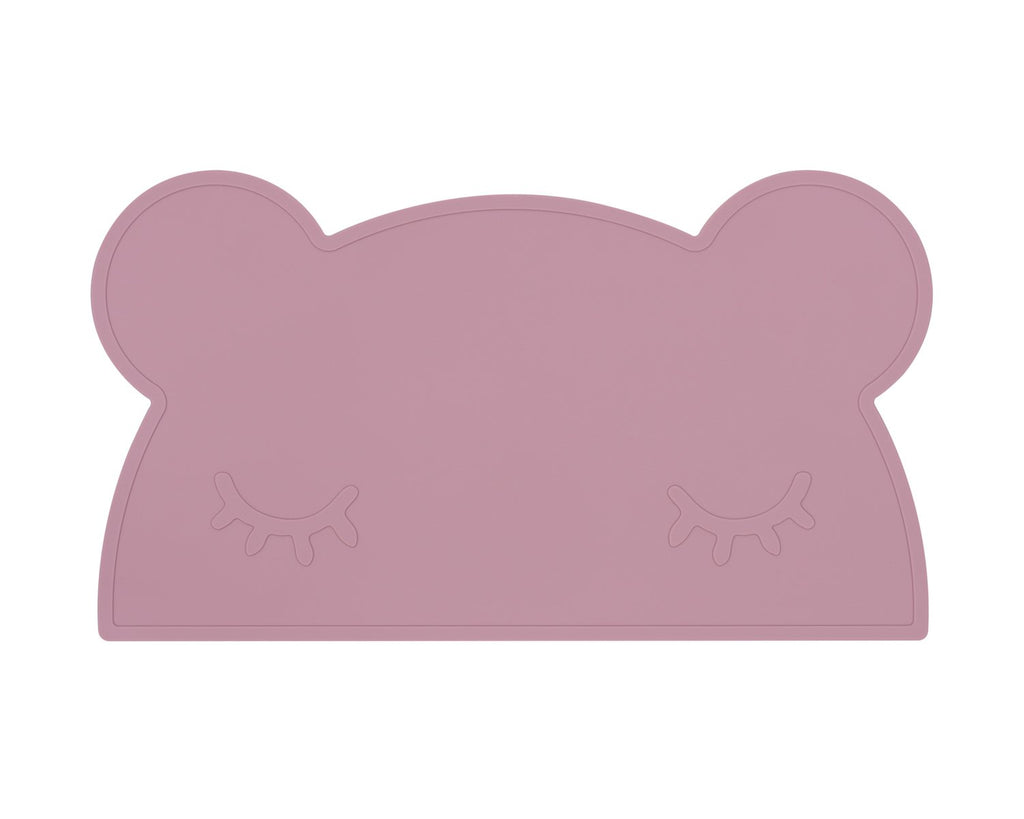 We Might Be Tiny Silicone Placemat - Bear Placie Dusty Rose