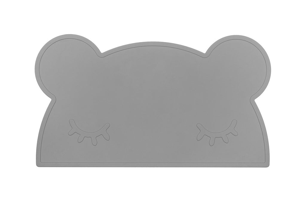 We Might Be Tiny Silicone Placemat - Bear Placie Grey