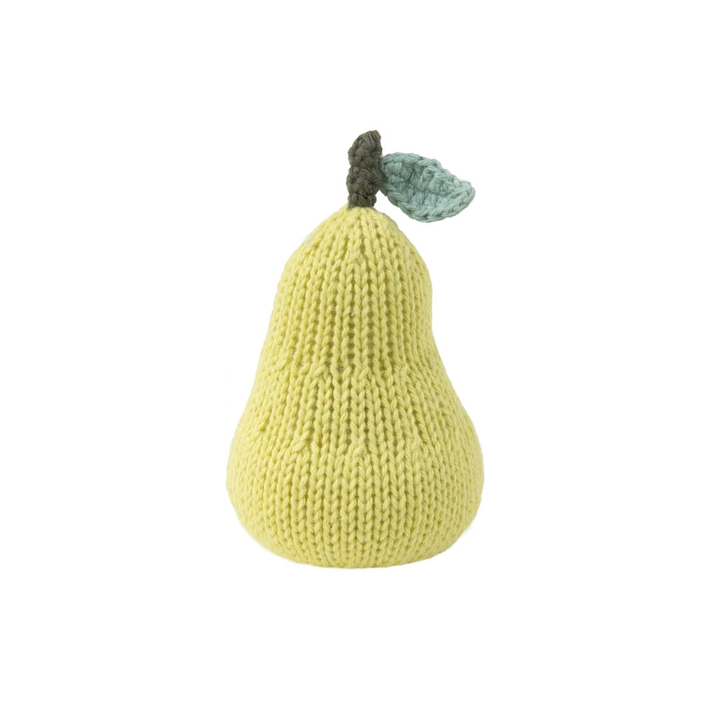 blabla Knitted Cotton Rattle - Pear