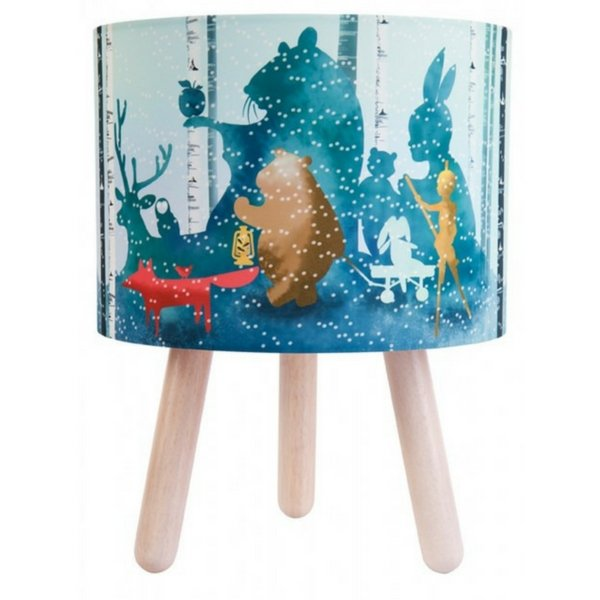 Micky & Stevie Wild Imagination Fabric Lamp Blue