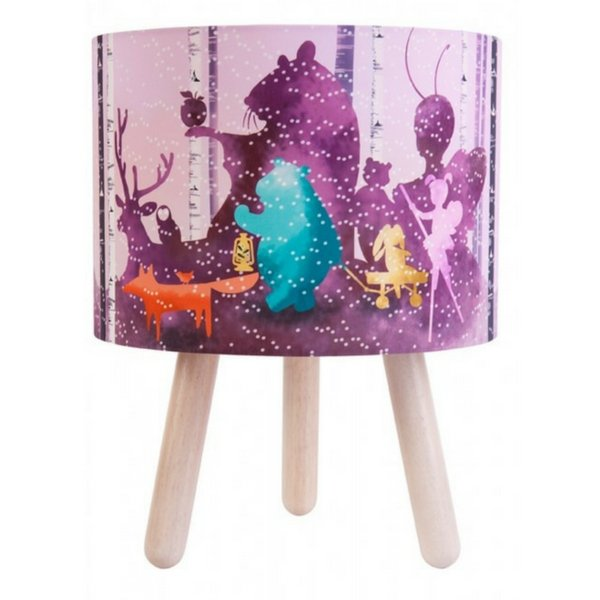 Micky & Stevie Wild Imagination Fabric Lamp Pink