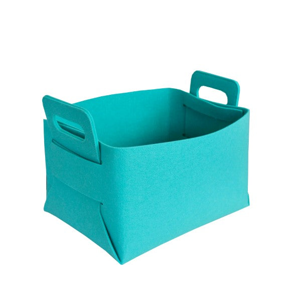 Felt Storage Hamper Basket Aqua