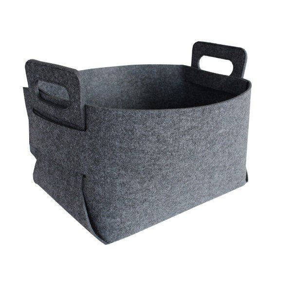 Felt Storage Hamper Basket Charcoal