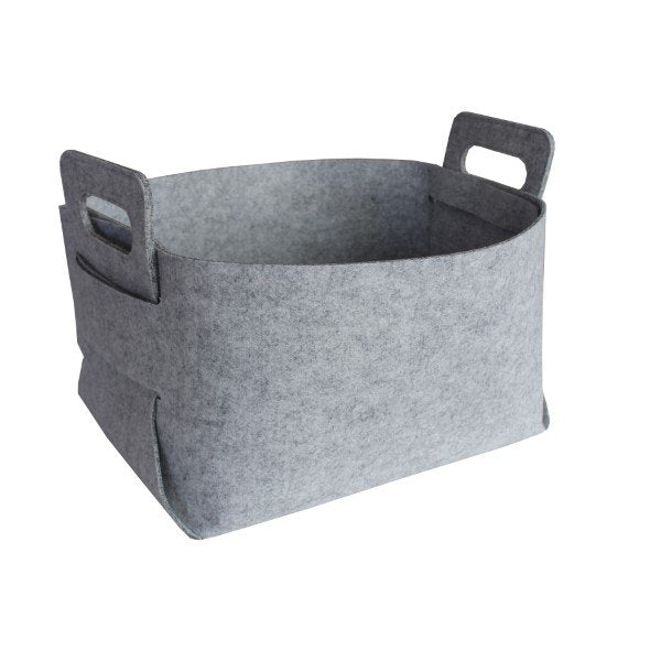 Felt Storage Hamper Basket Grey