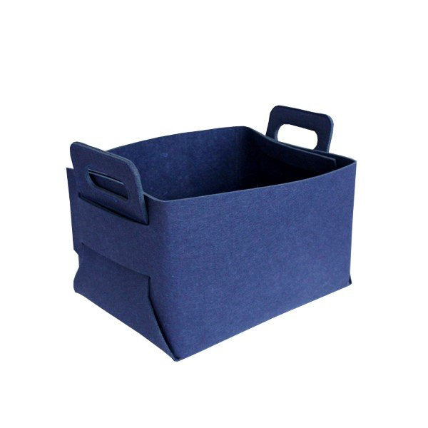 Felt Storage Hamper Basket Navy