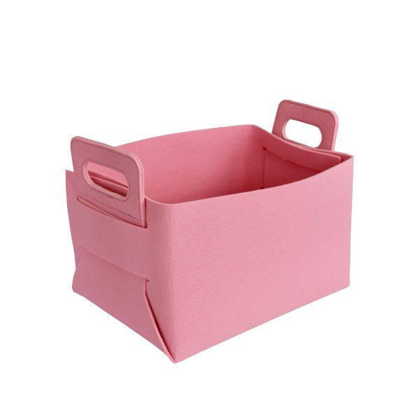 Felt Storage Hamper Basket Pink