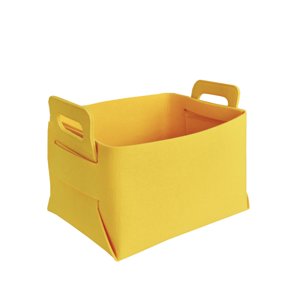 Felt Storage Hamper Basket Yellow