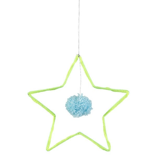 Meri Meri Star and Pom Pom Wall Decoration