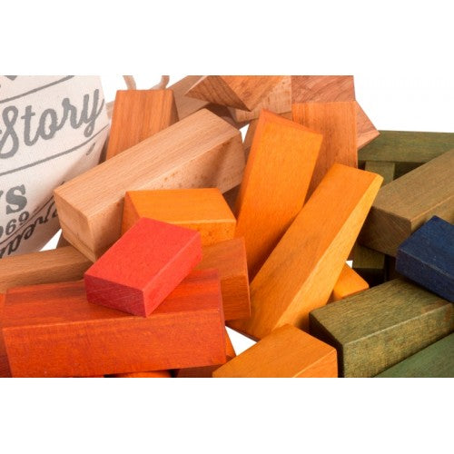Wooden Story Colourful Natural Block Set For Kids 50 Pieces