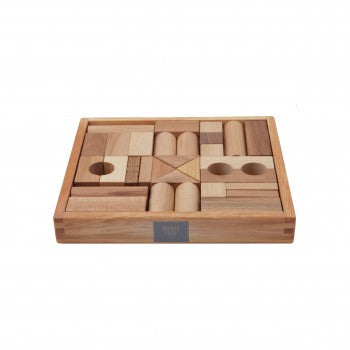Wooden Story Natural Blocks For Kids 30 Pieces