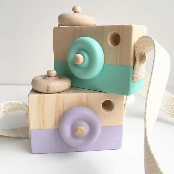 Behind The Trees Wooden Toy Camera  Coral Blossom