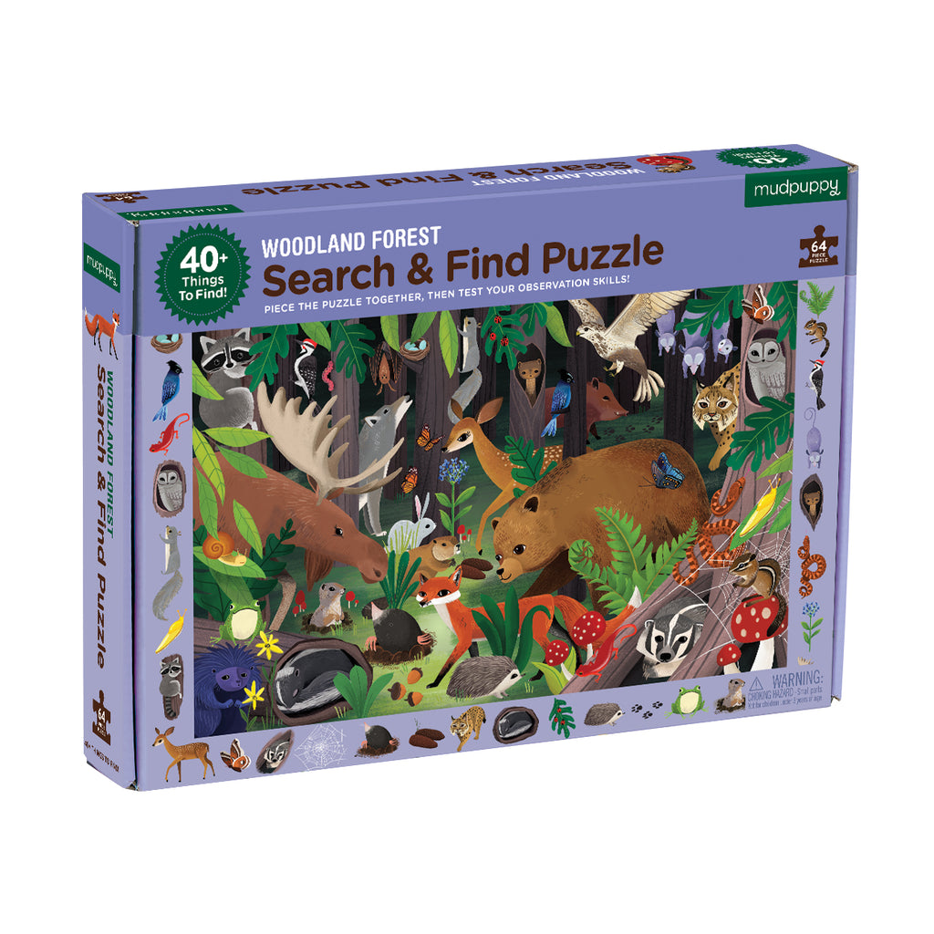 Mudpuppy - 64 Piece Search and Find Woodland Forest Jigsaw Puzzle