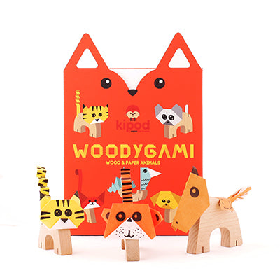 KIPOD Woodygami Animal Kit