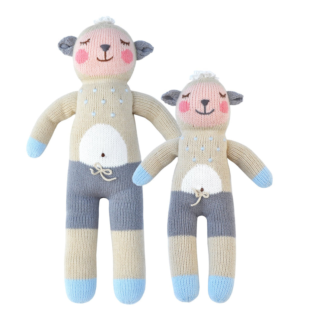 blabla Knitted Cotton Doll - Wooly the Sheep